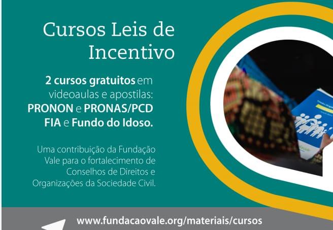 Fundação Vale oferece cursos gratuitos sobre Leis de Incentivo